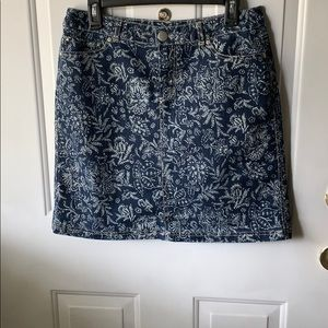 CHRISTOPHER & BANKS DENIM SKORT